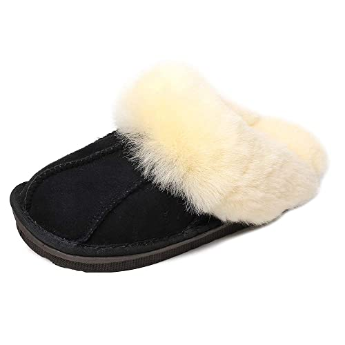 18364d07ae4c Real Australian Sheepskin Mens and Womens Luxury Slippers Super Fluffy and  Wooly Genuine Wool Fur Slipper