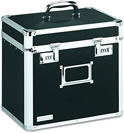 Vaultz Locking File Security Box, Letter Size, 13.25 H x 13.5 W x 10.5 D Inches, Black (VZ01165)
