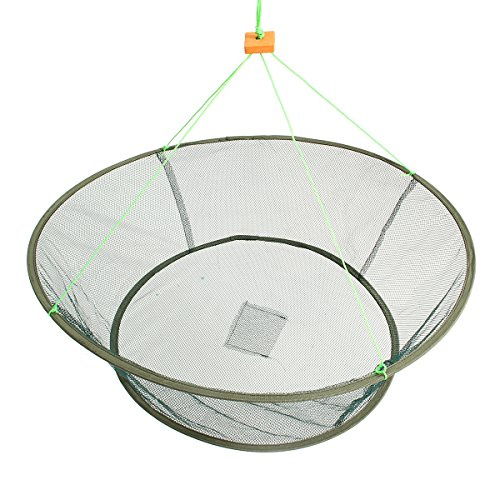 ZANLURE Foldable Fishing Net Prawn Bait Minnow Crab Shrimp Drop Harbour Pond Mesh ()