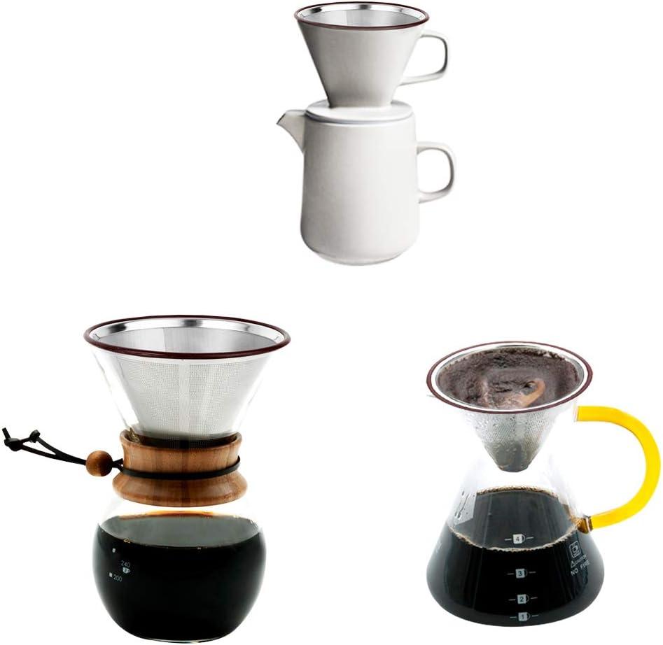 Amazon.com: Filtro de café de acero inoxidable sin papel ...