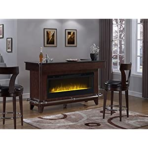 Pulaski Evo Bar Fireplace with  Two Barstools