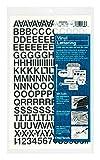 Chartpak Vinilo autoadhesivo, letras mayúsculas y números, 1.27 cm de alto, negro, 201por paquete (01010), Negro, 1/2 Inch High