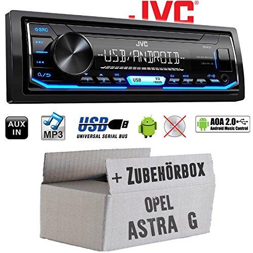 Opel Astra G - Autoradio Radio JVC KD-X151 | MP3 | USB | Android 4x50Watt - Einbauzubehö r - Einbauset JUST SOUND best choice for caraudio OpAsG_KD-X151