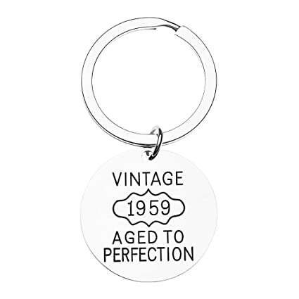 Infinity Collection 60th Birthday Keychain Gifts For Men Women Vintage 1959
