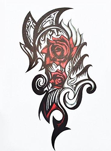 Rosas Flores tatuaje falso Tattoo hb863: Amazon.es: Belleza