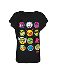 a2z4kids Kids Girls T Shirt Emoji Print Stylish Trendy Fashion Top New Age 7-13 Years