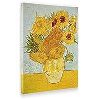 Giallo Bus Quadro Stampa Su Tela Canvas, Vincent Van Gogh, I Girasoli