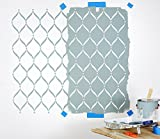 "Extra Large LATTICE WALL STENCIL (Size 24"" x 38"") IDEAL for Bathroom, Kitchen, Bedroom, Living Room, Outdoor Floors + More (Wallpaper Stencil)"
