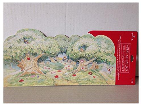 Hallmark Merry Miniatures Heartland Forest Valentine Scene Backdrop Display -