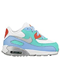 Toddler Boys Nike Air Max 90 Sneakers New, White / Silver / Blue 724854-100 sz 4c