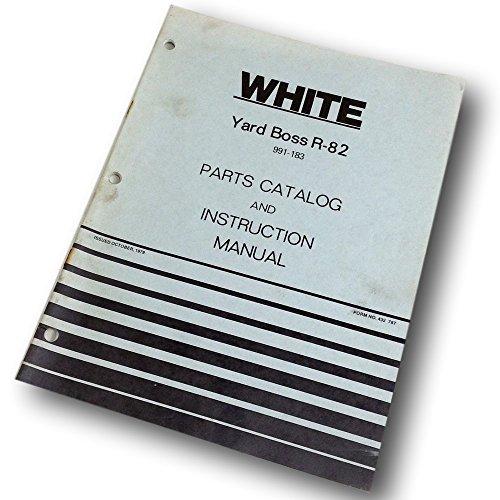 White Yard Boss R-82 Lawn Mower Parts Catalog Operators Instruction Manual