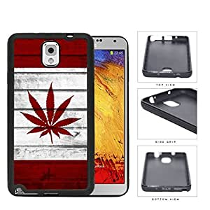 Canada Weed Flag Grunge Wood Rubber Silicone TPU Cell Phone Case Samsung Galaxy Note 3 III N9000 N9002 N9005