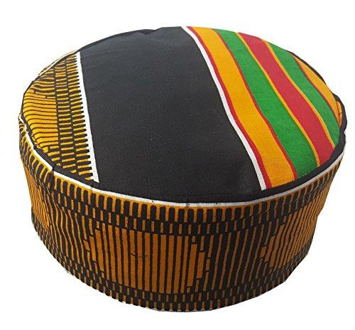 Decoraapparel Traditional African Hat Kente Pattern Dashiki Cap Kufi Kofi by Decoraapparel