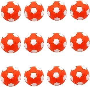 AOFOX Fútbol de Mesa Reemplazos de futbolín Mini balones de fútbol Blancos y Naranjas para mesas de Tornado, Dinamo o Shelti - Juego de 12: Amazon.es: Deportes y aire libre