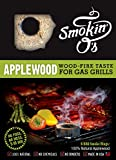 Smokin-O's BBQ Smoke Rings - Wood-fire Taste for Gas Grills, 100% Applewood