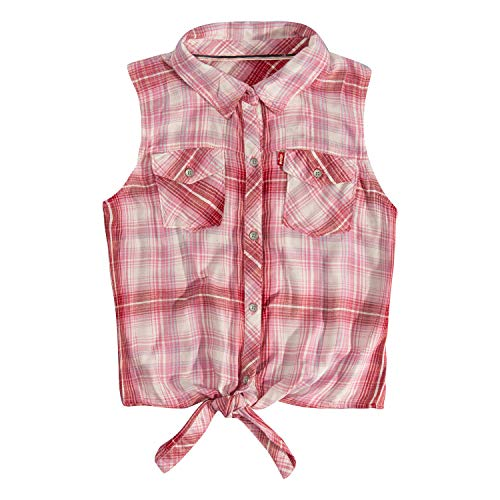 Levi's Girls' Big Waist Tie Top, Sachet Pink -