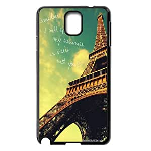 Eiffel Tower Series Stand Wallet Leather Case with Credit ID Card Slots Fit For Samsung Galaxy NOTE3 Case Cover GHLR-T398858