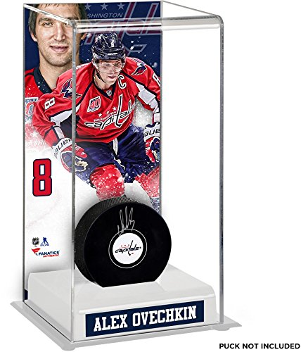 Alex Ovechkin Washington Capitals Deluxe Tall Hockey Puck Case - Fanatics Authentic Certified - Hockey Puck Display Cases No Logo (5 Hockey Puck Display Case)