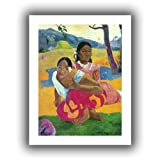 Paul Gauguin 'Nafea Faaipoipo (When Are You Getting Married?)' unwrapped canvas is a high-quality canvas print depicting two young Tahitian women crouching. They are depicted in front of a bold, stylized island landscape. Eugene Henri Paul Gauguin wa...