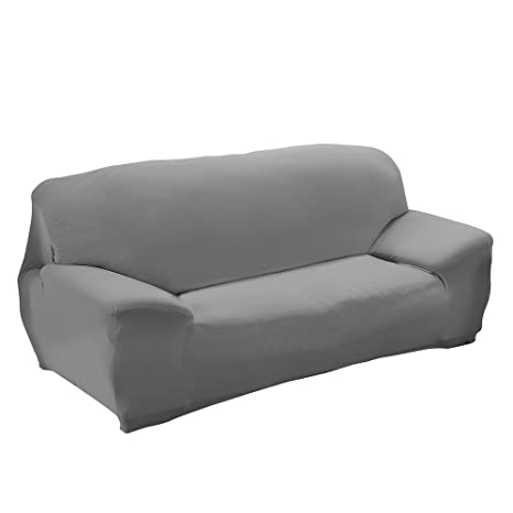 Funda para sofá, Alta Elasticidad 3 plazas Funda de sofá elástica, Cómodos sofás de 3 plazas (190cm - 230cm, 70-90 Inches), Gris
