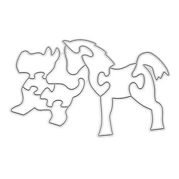 zmigrapddn Troqueles,Puzzle creativo forma de caballo de perro Troqueles de corte plantilla moldes para hacer álbumes de recortes Álbum Tarjeta de papel ...