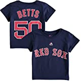 Mookie Betts Toddler Boston Red Sox Navy Name and Number Jersey T-shirt