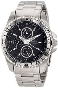 Armitron Men's 20/4739BKSV Stainless Steel Multi-Function Black Dial Bracelet Watch