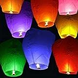 20 PCs Sky Lanterns Paper Lanterns Chinese Wishing Lantern Birthday Wedding Party