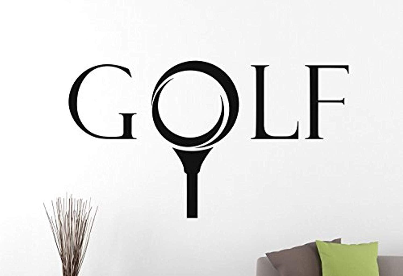 Amazon.com Wall Vinyl Decal Golf Logo Sticker Sports Signs Home ...