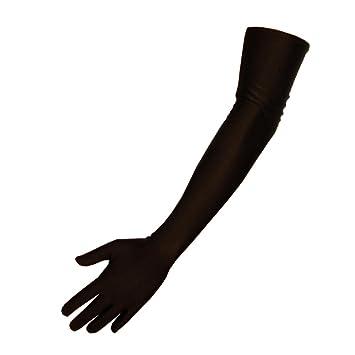 jowiha/® Lange Satinhandschuhe in Schwarz Rot oder Wei/ß Einheitsgr/ö/ße 53cm