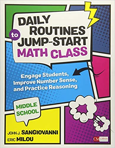 Daily Routines to Jump-Start Math Class, Middle School number talks books