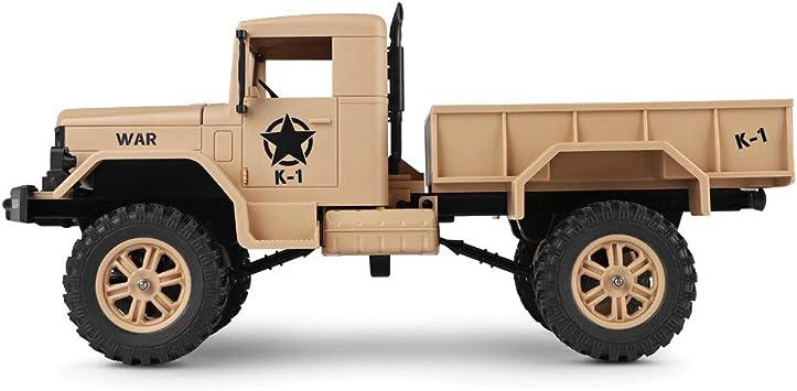 Amazon.com: Bieay RC Camión Militar 1/12 2.4 G 4 WD Control ...