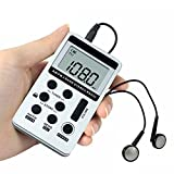 AM FM Pocket Radio , JINSERTA Portable Digital Tuning AM / FM Stereo Radio with Earphone for Walk