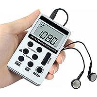 AM FM Pocket Radio , JINSERTA Portable Digital Tuning AM / FM Stereo Radio with Earphone for Walk
