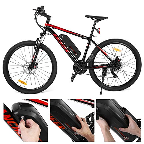 Ancheer 2018 Electric Mountain Bike with Removable LG 36V 8Ah Lithium-Ion Battery for Adults, 26 Inch Electric Mountain Bicycles with Shimano 21 Speed Shifter by ANCHEER (Image #2)