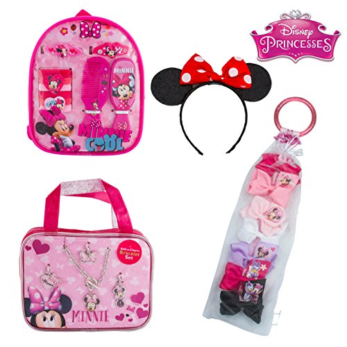 Minnie Mouse Double Set of Hair Accessories in Carry Case and Backpack Minnie Ears Hairband with Bow a Day (Cheap Minnie Mouse Ears)