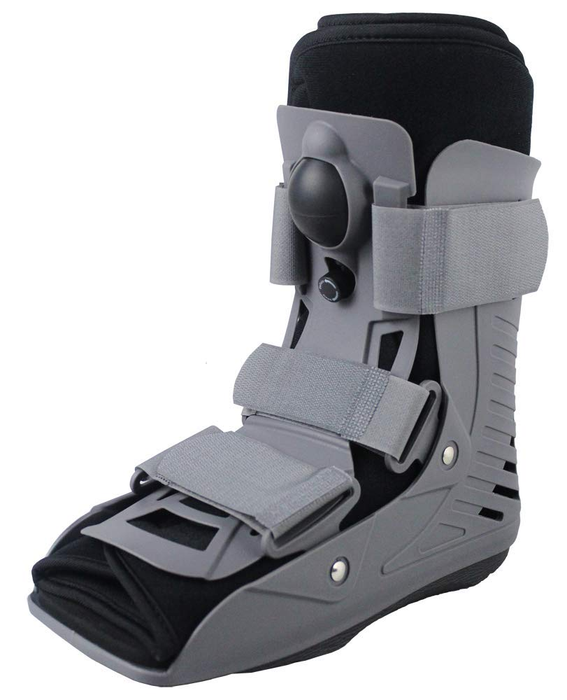Walking Boot for Stress Fracture, Broken Foot, Sprained Ankle or Broken Toe. Ultralight with Inflatable Air Liner. Short Rise (Small)