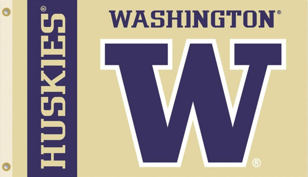 NCAA Washington Huskies Flag withグロメット60 x 36 in   B008GV2VAW