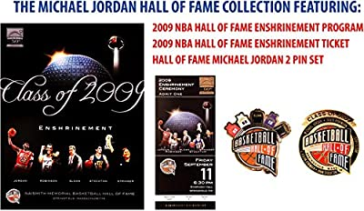 Michael Jordan Chicago Bulls Hall of Fame Induction Collection featuring Collectible Induction Program, Commemorative Ticket and Pin Set - Fanatics Authentic Certified