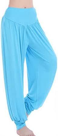 Inlefen Women Harem Pants Modal Yoga Lantern Pants Trousers Elastic Waist Pants Sports Pants Yoga Pilates Plus Size Dance Pants Woman Tai Chi Loose Pants Casual Pants