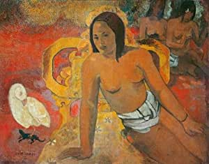 Oil painting 'Paul Gauguin-Vairumati,1892' printing on Linen Canvas , 10x13 inch / 25x32 cm ,the best Game Room decoration and Home decoration and Gifts is this Reproductions Art Decorative Prints on Canvas