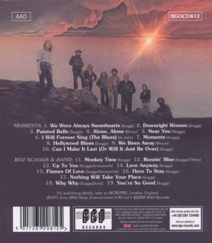 Moments/Boz Scaggs And Band /  Boz Scaggs