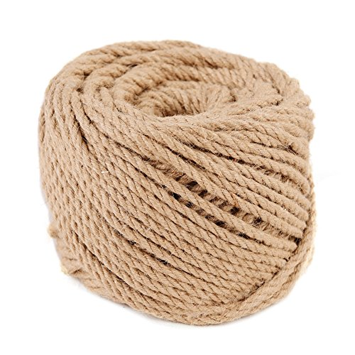 Nice (4mm x 100m(about 109 yd)) Natural Jute Twine Macrame Best Arts Crafts Gift Twine Christmas Twine DIY Industrial Packing Materials Durable String for Gardening Applications hot sale