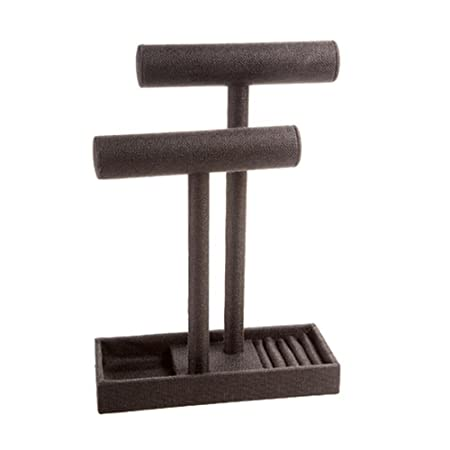 Double Bracelet Bar 9.75X9.75X13.75-Black Burlap