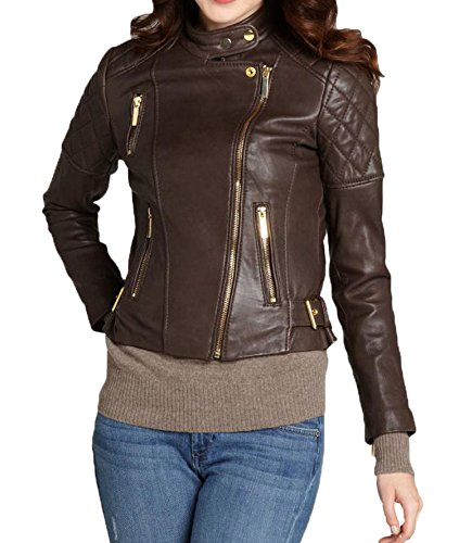 Leather Brown Giacca Junction Leather Donna Giacca Brown Junction Leather Donna Donna Giacca Junction 7qtXSwA