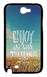 Enjoy The Little Things Typography Quote Protective Hard Plastic Back Fits Cover Case for Samsung Galaxy Note 2 N7100 -1122049