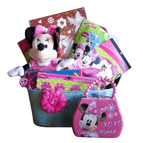 XOXO Minnie Valentine Gift Baskets With Body Stickers Ideal Valentines Day gift for Girls 3 to 7 Years Old Games And Go