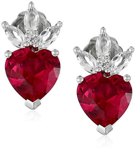 xpy-created-ruby-heart-with-created-white-sapphire-marquise-drop-earrings