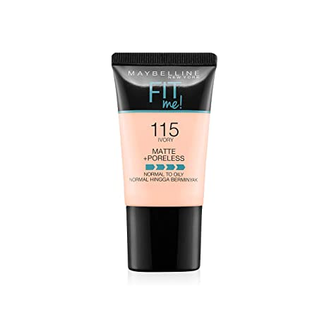 4220f79d17e Buy Maybelline New York Fit Me Matte+Poreless Liquid Foundation Tube, 115  Ivory, 18ml Online at Low Prices in India - Amazon.in