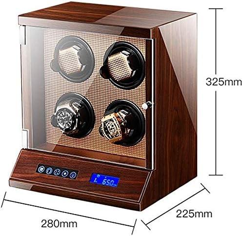 ワインディングマシーン 自動ウォッチワインダー4の時計でロックタッチLCDデジタルディスプレイ静かStorgeケース5の回転モード KANULAN